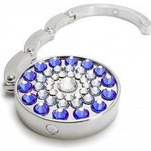 Háček na kabelku Swarovski Elements sun modrý