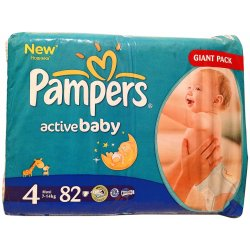 Pampers Active Baby-Dry 4 Maxi 7-14 kg 82 ks