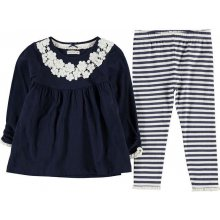 Crafted Two Piece Tunic Set Infant Girls Navy Crochet