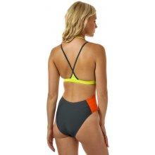 Speedo Womens H2O Active Ultra Fizz Pivotback Swimsuit šedá a30eb1ea06