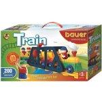 BAUER Stavebnice Train Vláčky 200 dílů