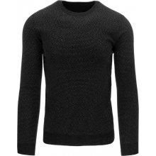 DSTREET Pánský černý svetr (wx0766)
