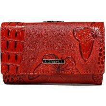 Lorenti Dámská červená italská kožená peněženka s 3D efektem 55020 BF RED