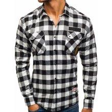 Černá pánská flanelová košile s dlouhým rukávem Bolf 2503 8682e4e11d