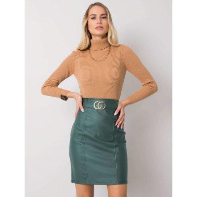 Koženková sukně dhj-sd-3029.06 green