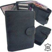 Harold's peněženka pánská kožená modrá F118411 blau