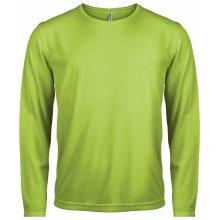 Tričko s dlouhým rukávem Limetková