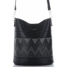 David Jones dámské kabelky listonošky s kosmetikou ažurová Černá 7d25dac3698