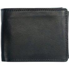 HMT Černá pánská kožená peněženka podélná