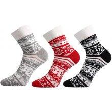 affdf6528ad 3x dámské ponožky Ivana Bo0050 červeno-černá