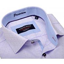 Casa Moda Modern Fit Premium – světle fialová košile s vetkaným vzorem a vnitřním  límcem 67b6cde260