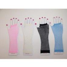 Síťované rukavičky Bílá Gift3 2293