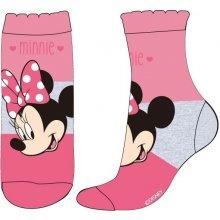 E plus M Dívčí ponožky Minnie růžové