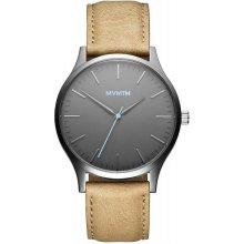 MVMT THE 40 - Gunmetal / Sandstone Leather