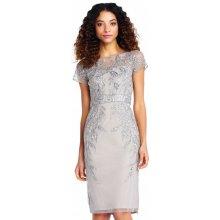Adrianna Papell luxusní koktejlové šaty platinum 98767ecf5c