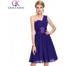 Grace Karin společenské šaty krátké CL4106-2 fialová 48ccf4ab08