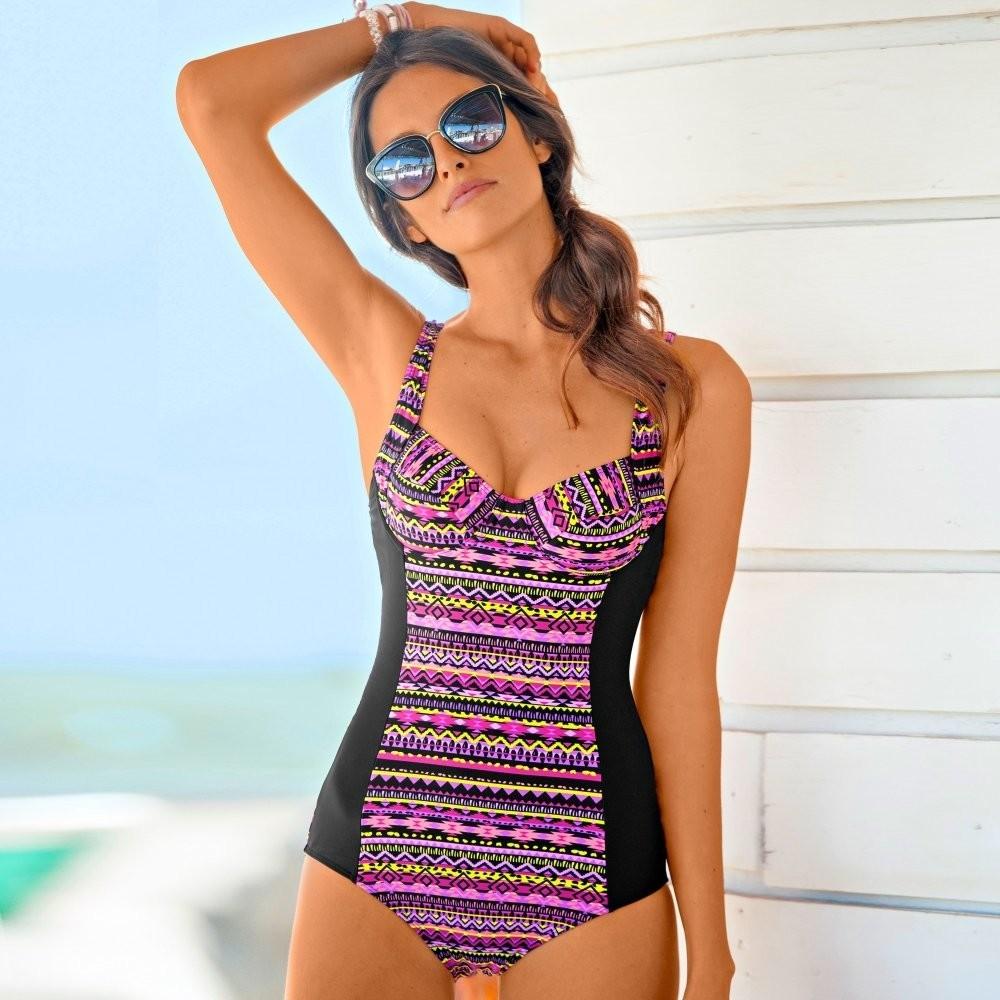 4fb5a6e07 Blancheporte Jednodílné zeštíhlující plavky, s kosticemi mexický potisk  alternativy - Heureka.cz