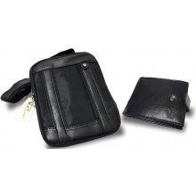 0479f8306d luxusní set pánské kožené peněženky a tašky crossbody
