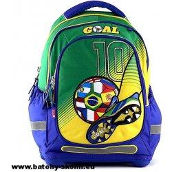 Školní batoh Target batoh Goal modro-zelený 604821fb4a