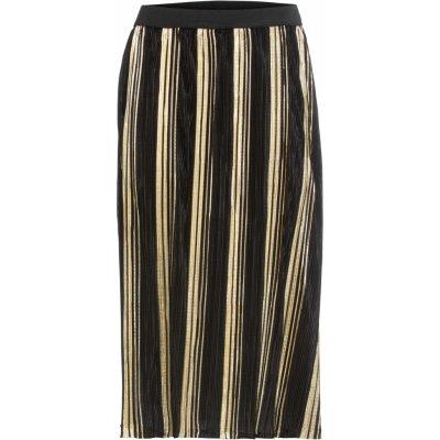 Bonprix plisovaná sukně s metalickým efektem černá