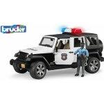 Bruder 2527 JEEP WRANGLER Rubicon Policie s figurkou snědá pleť