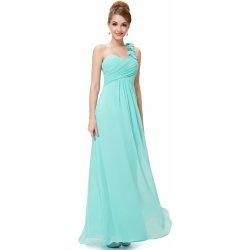 Ever Pretty plesové dlouhé šaty na jedno rameno HE09768AQ tyrkys od ... c00e5b92e71