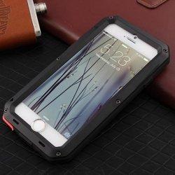 Pouzdro SES EXTRÉMNĚ odolné hliníkovo-silikonové obal Apple iPhone 6 6S -  černé 9f1ad600057