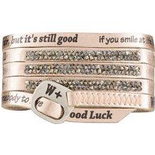 We Positive Wrap náramek růžového zlata s krystaly Swarovski Moonlight Glamour ML020 Gold Pink