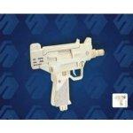 Woodcraft 3D puzzle dřevěná skládačka Pistole UZI P118