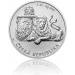 Česká mincovna Stříbrná uncová investiční mince Český lev 2018 stand 31,1 g