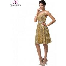 72bef93f66d Grace Karin společenské šaty krátké CL6149-2 zlatá