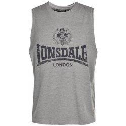 39b4b7cb72e Lonsdale pánské triko bez rukávů sport. vzhledu šedé od 368 Kč ...