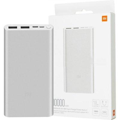 Xiaomi Mi Fast Charge 3 10000 mAh stříbrná