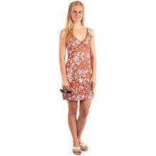 Letní krátké květované šaty s úzkými ramínky 140969 oranžová e4b85e1624