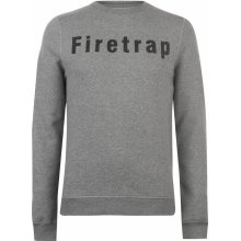 Firetrap Graphic Crew Sweater Mens