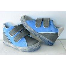 Jonap celoroční kožená obuv 015 šedomodrá