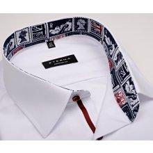 Eterna Comfort Fit – bílá košile s vnitřním límcem s anglickými motivy - extra  prodloužený rukáv ea652162ff