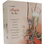 Crystalex Sklenice na šampus FLÉTNA ANGELA 190ml 6ks