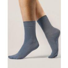 Gina dámské ponožky klasické bezešvé jednobarevné Bambusové ponožky 82000P koňak