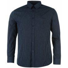Pierre Cardin Long Sleeve Shirt Mens Navy Stripe