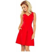 d119399991e Dámské společenské šaty bez rukávů široká sukně s kapsami červená