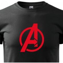 Bezvatriko.cz 0287 Pánské tričko s motivem Avengers Černá