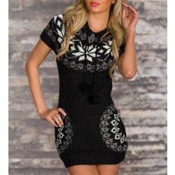 2c6b78a6766 CC Fashion Dámský dlouhý svetr norský vzor Black alternativy ...