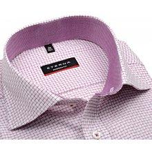 Eterna Modern Fit Twill – košile s fialovo-červenou kostičkou a vnitřním  límcem 01aa9930f5