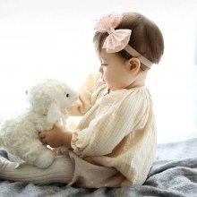 Beyou Čelenka pro miminka s mašličkou růžová