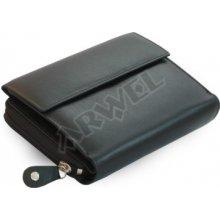 Arwel Dámská kožená peněženka 511 2221 s malou klopnou černá
