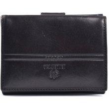 Valentini Dámská peněženka na výšku kožená se kapsou na drobné černá, 10 x 2 x 13 (SV00-563205-09KUZ)
