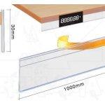 Samolepící cenovková regálová lišta A-Z Reklama CZ na hranu - 30x1000mm
