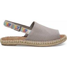 418d30ca0c9 Toms Dámské šedé sandály Tribal Oxford Clara