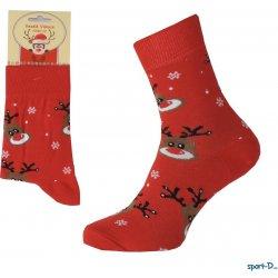 Pondy VAN300 dámské vánoční ponožky sob červené alternativy - Heureka.cz 7970c9c0a1